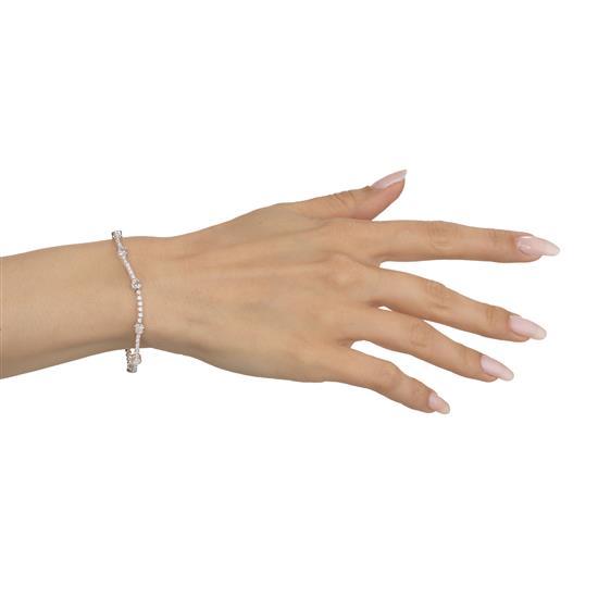 Bracelet With Diamond In 18K White Gold