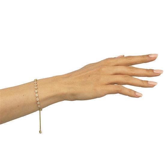 Bracelet With Diamond In 18K Yellow Gold